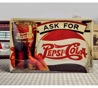 Wholesale 20 cm Ask for Cola Tin Sign Coca Coke Home Decor Wall Decals Metal Plate Tin Sign