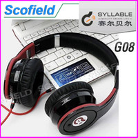 Wholesale Syllable G08 Bluetooth Headset Folding Design Wireless Bluetooth V2 Stereo Headphones Mic For Android cell phone