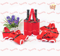 Wholesale Santa Pants Shape Tote Bags For Wedding Party Holiday Christmas Gifts Bags Xmas Candy Bags