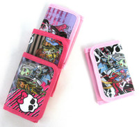 Wallets unisex Leather Free shipping 24 Pcs Popular Monster High Bags Purses Wallets with Zip Fashion Gift