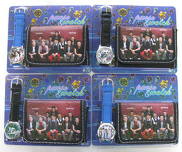 Wholesale Free shipping 30pcs One Direction 1D Children's watches and wallet sets Popular Toy Gift