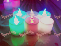 Wholesale Flameless LED Candles Tea Lights Wedding Party Candle Favors Color Changing Flameless Candles Battery Operated ForChritmas Holiday Festival