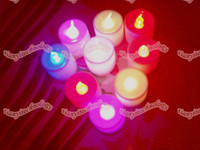 Wholesale LED Tea Lights Flameless Candles Great for Luminaries Parties Weddings Led Candle Lights Candle Birthday Dinner Candle Lamp