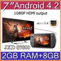 Wholesale EMS Android JXD S7800B S7800 game console RK3188 Quad core GB RAM GB ROM inch IPS game player tablet pc JY07