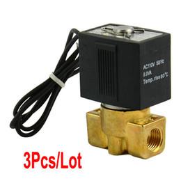 Wholesale 3pcs New quot Electric Solenoid Valve Air Gas Etc Volt AC TK0486