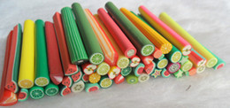 Wholesale E Packet Nail Art Canes D Nail Stickers Decoration Polymer Clay Fruit