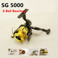 Cheap Hot Sale SG-5000 5.1:1 GEAR RATIO Metal Spinning Reels Fishing Tackle Lure Fishing Reels