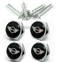 Wholesale 4 x Separate Chrome Metal LICENSE PLATE FRAME BOLT SCREWS For Mini
