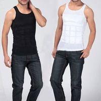 Men Cotton Polo Men's Slimming Body Shaper Belly Fatty Underwear Vest Shirt Corset Compression