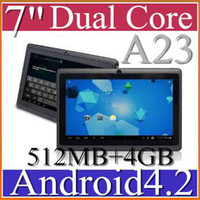 "7 inch Dual Core Android 4.2 DHL 30PCS NEW A23 Cheap Q88 7"" Dual Core MID Tablet PC Android 4.2 WIFI GAME 512MB 4GB 1.5GHZ JP7-1"