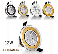 Wholesale Downlight LED X4w W V Ceiling downlight LED lamp Recessed Cabinet wall Bulb Black Golde Silver Led bulb lamp