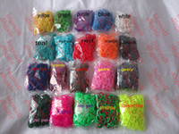 Wholesale loom kit for kids rainbow loom bands colorful Rubber refill bag bands hook quot S quot clip