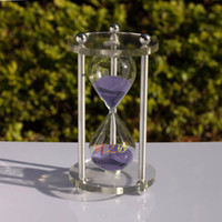 Crystal sand timer hourglass - When the minutes sand timer hourglass crafts office supplies corporate gifts crystal glass products