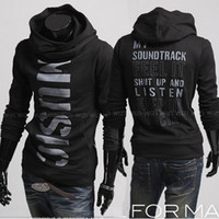 Wholesale Fashion New men Hoodies Sweatshirts personality letters printed men s slim fit casual Hoodies men Pullover men s clothing