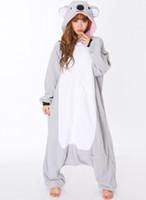 Wholesale Mens Ladies Gray Onesie Adult Animal Onesies Onsie Kigurumi Pyjamas Pajamas cosplay Costumes R347 S M L XL XL