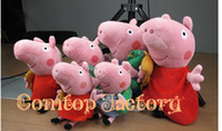 Cats/Mice/Dogs Blue Plush Fedex Free shipping Wholesale 20pcs lot Peppa Pig Teddy toys 25cm Geroge Pig Dinosaur Plush Doll Baby Soft Toy Christmas gifts