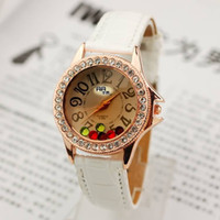 Multicolored go red diamond belt watch female table fashion ...