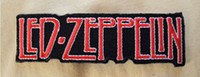 Patches band led zeppelin - LED ZEPPELIN Red White Black Embroidered Iron On Sew On Patch Rock Band COSTUME PATCH EMBLEM