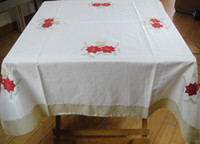 Wholesale Christmas pattern embroidery flower cutout small round dining table cloth tablecloth coffee table dianbu washing machine cover
