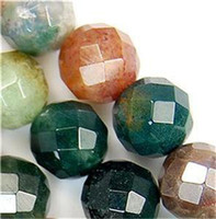 Wholesale Natural AAA mm Faceted RARE MULTICOLOR Natural Agate Round Beads quot GIFT