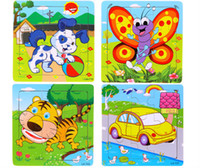 Wholesale 24 style The new hot products Wooden Jigsaw Puzzle Kindergarten baby toys piece jigsaw puzzle toy