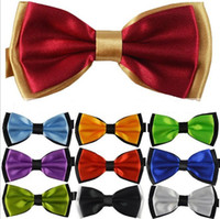 Wholesale high quality men polyester double layer bowtie mixed styles freeshipping dropshipping