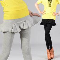 Leggings Women other Chili fish tail basic skirt pants pleated skirt pants cake ankle length legging 13 spring womens pants fashion 2013