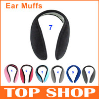 Wholesale Cheap Fashion Earmuffs Mens Womens Winter Colors Plush Blending Cotton Hats Caps Cycling Running Walking Accessories Ear Muffs SS0002