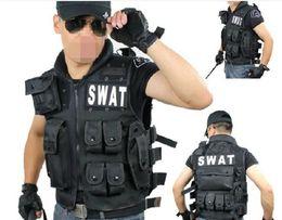 Wholesale hot sale men leisure American swat CS tactics much pocket nylon canvas black outdoor clothes vest style can be choose
