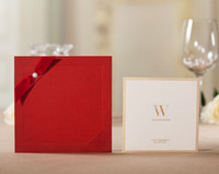 Invitation Cards Folded Red CW3066 red invitation Wedding Invitations come with envelopes and seal