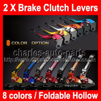 Wholesale 8 colors X Brake Clutch Levers For KAWASAKI NINJA ZX R ZX10R ZX R R CNC Extendable Foldable