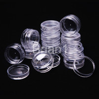 arts plastic containers - Promotion g transparent small round bottle jars pot clear plastic container for nail art storage