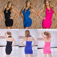 Wholesale Womens Evening Dresses NEW Black Blue Pink Sexy Lingerie Dress Sexy Club Wear Sexy Nighty Wear Costume Womens Evening Dresses
