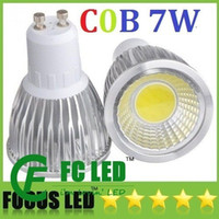 Wholesale High Power GU10 W Led Bulbs Light CRI gt COB Warm Pure Cool White Dimmable E27 E26 MR16 Led Lights V CE ROHS CSA UL