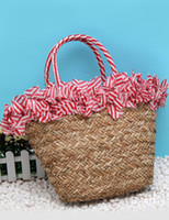Wholesale Drawstring Closure Straw Woman s Tote Beach Bag handbag r45 u14 MPO