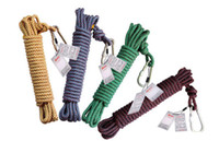 Wholesale 10 mm lb Climbing rope Outdoor sports tool Climbing Parachute Cord Nylon Safety Rope without metal safety key