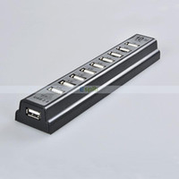 Wholesale 10 Ports High Speed USB HUB Power AC Adapter For PC Laptop