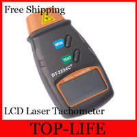 Wholesale 7031 Photo Tachometer Digital LCD Laser Tachometer Non Contact RPM Tach to RPM