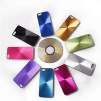 Wholesale For iPhone G S New iPhone5 Hard Back Case Cover Metallic CD Shinning Grain With Transparent Frame