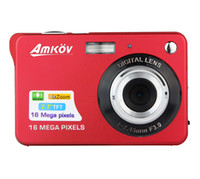 Wholesale New HD Digital Camera MP Zoom Smile Capture Anti shake Video Camcorder Red E9010C