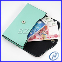 For Apple iPhone Metal For Christmas 5.5 inch dual layer leather money