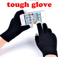 Wholesale New Colorful Winter warm touch Cotton gloves capacitive screen conductive gloves for iphone ipad mini pairs