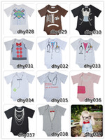 Wholesale baby boy one pieces romper newborn bodysuit tuxedo short sleeve rompers jumpsuit cotton climbing clothing baby overall