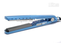 Wholesale 1 inch Titanium Ceramic Hair Straightener Flat Iron With LED Electronic Temper DHL Free With Retailing Package