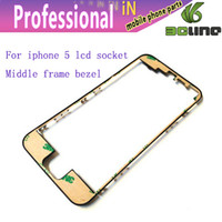 Wholesale For iPhone Middle Frame LCD Bracket socket Housing Middle Bezel for iPhone5 G Bracket with M Adhensive