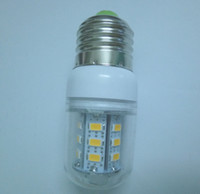 9W 220V No New Arrival E27 E14 GU10 G9 24 LED 5730 SMD 110V 220V 230V White Warm white 9W led corn bulbs 850 LM 5pcs lot