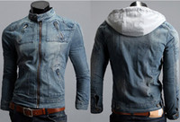Wholesale Korean Jeans Parka Men Fashion motorcycle Jacket Men Winter stand collar Men s Jacket New XXL Clothes Men New Arrival