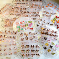 Wholesale Fashion allergy free electroplating small stud earrings multi design fashion jewelry