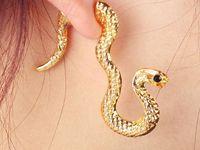 Wholesale Tidal range in Europe and America retro nightclub exaggerated personality snake earrings earrings