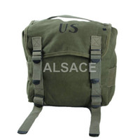 Wholesale Outdoor Tactical gear Cotton Canvas Wargame and Airsoft equipement ALW US Mil Canvas Butt Pack